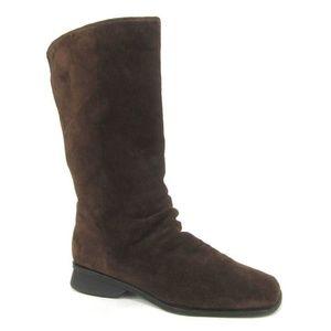 Markon Simon Brown Suede Boots Mid Calf 8M